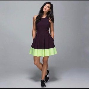 Lululemon Away Dress Fit & Flare laser mesh cutout